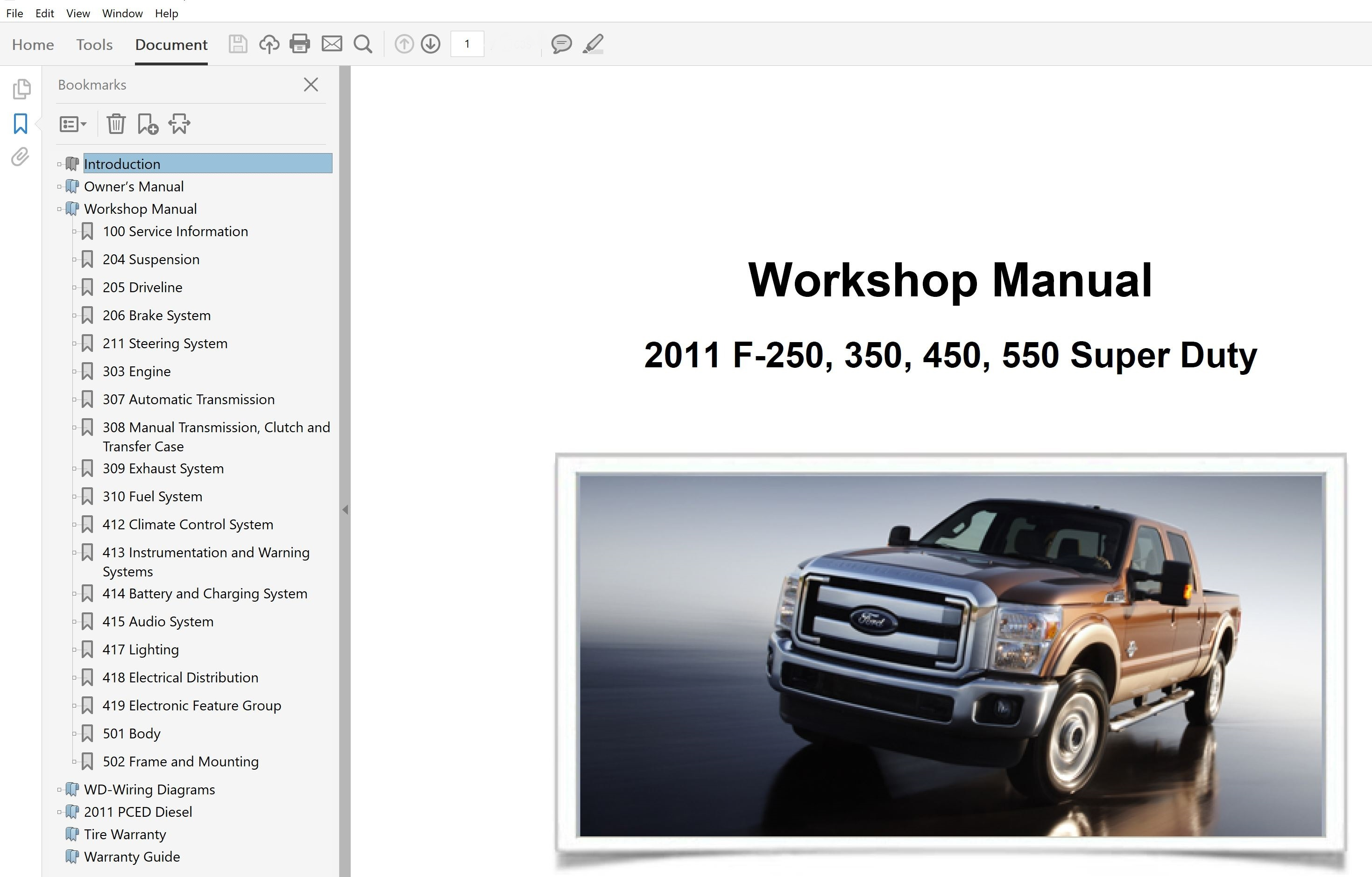 F-350 2014 FACTORY REPAIR SERVICE MANUAL FOR FORD SUPER DUTY F-250 F-450