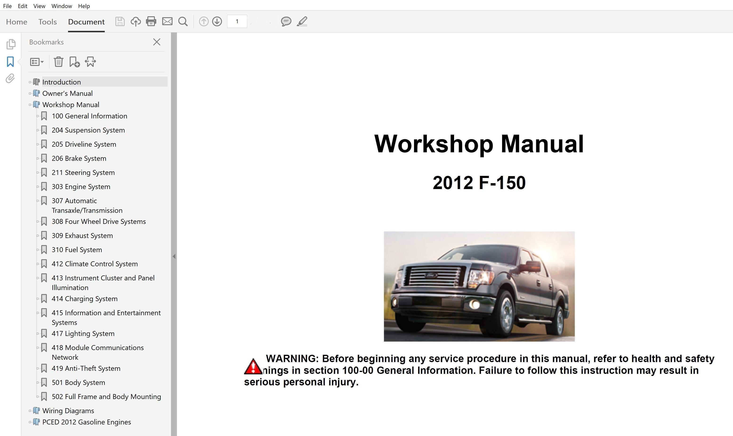 2012 Ford F150 Repair Manual