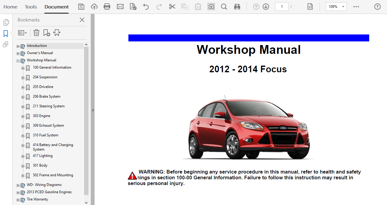 2013 Ford Focus Repair Manual