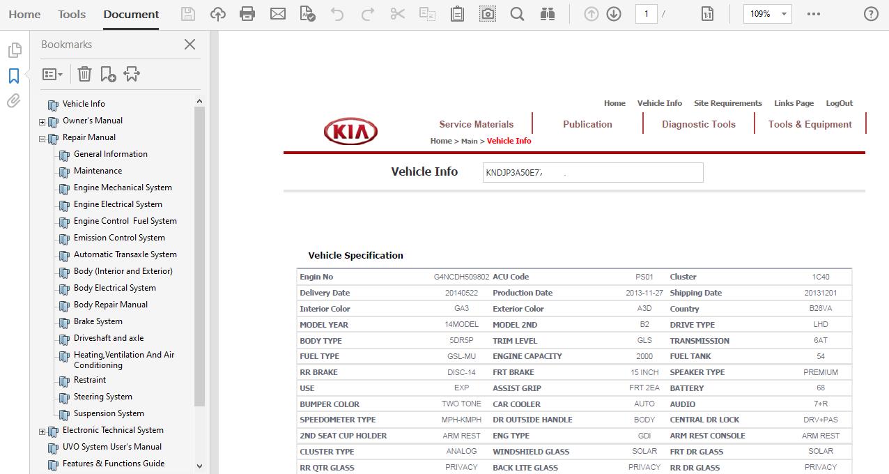 Kia Soul 2014 Repair Manual Workshop Service U2013 Mechanical Manual Guide