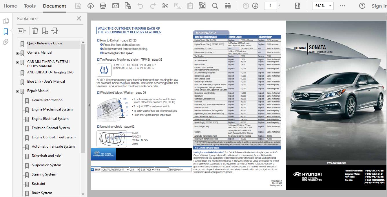 2015 Hyundai Sonata Repair Manual