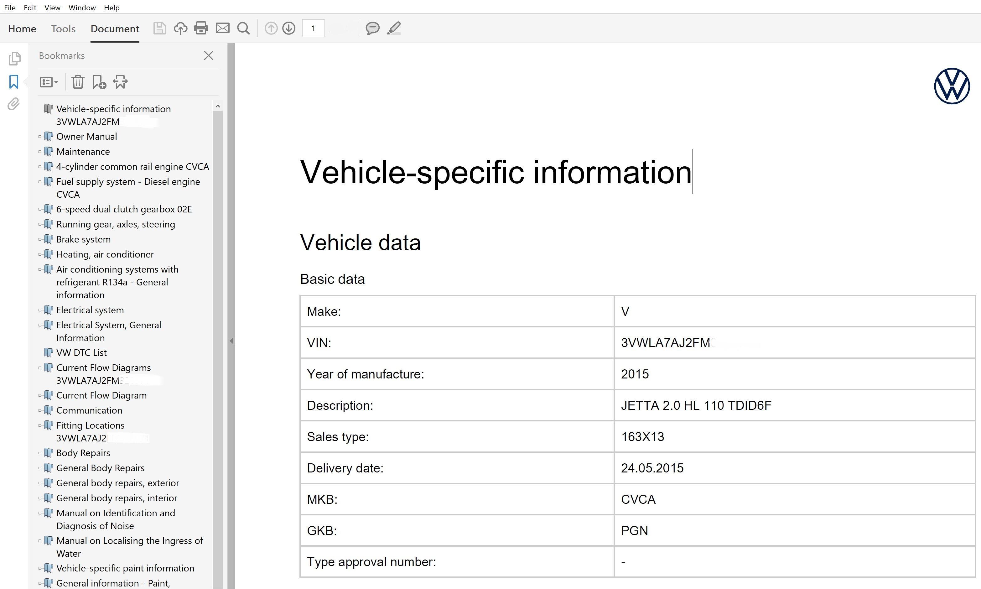 2015 Volkswagen Jetta Repair Manual