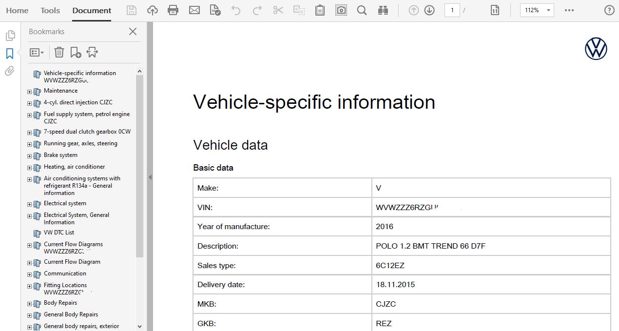 2016 Volkswagen Polo Repair Manual