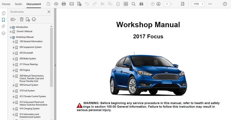 2017 Ford Focus Repair Manual