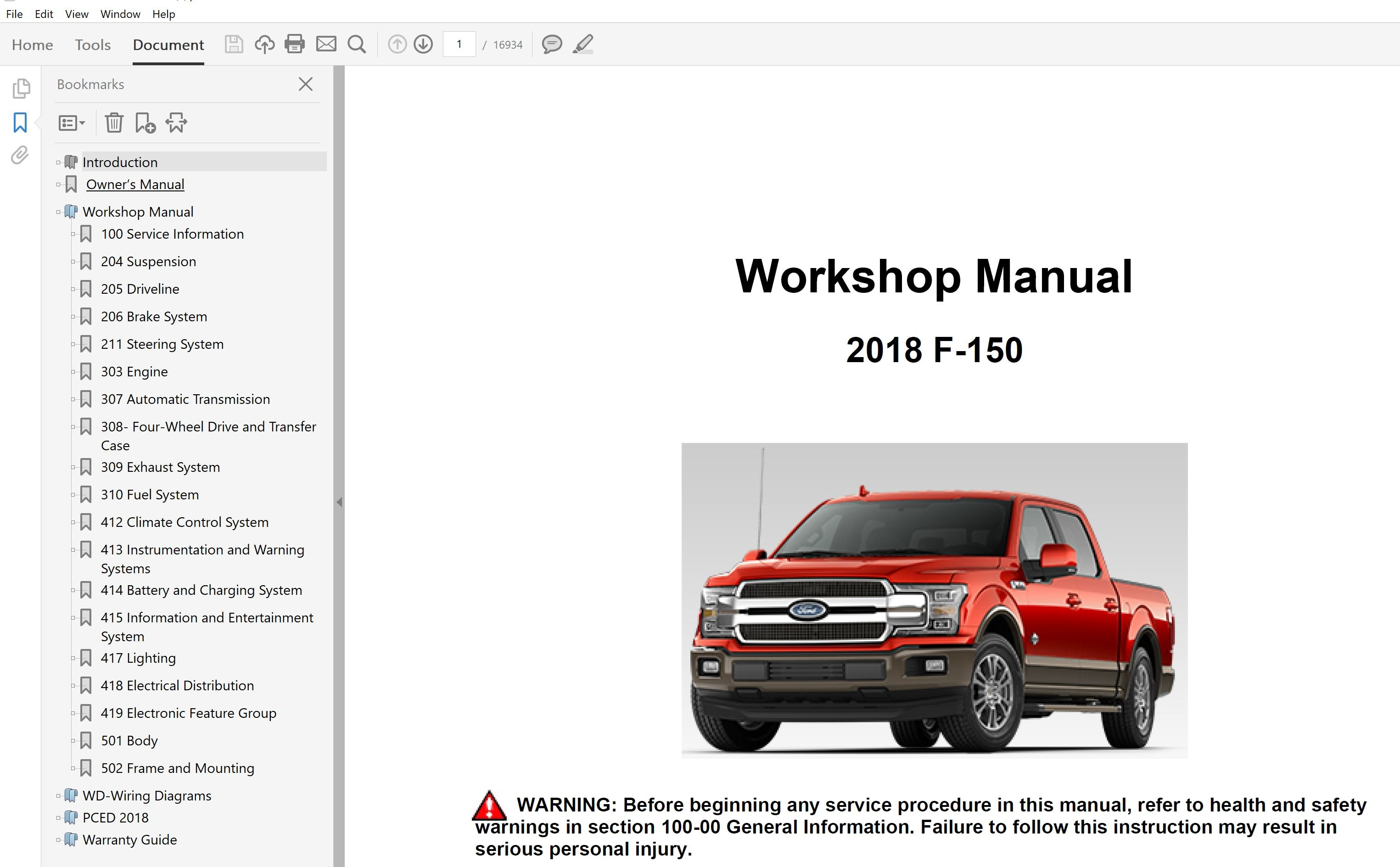 Car Repair World Ford F F Manual Guide