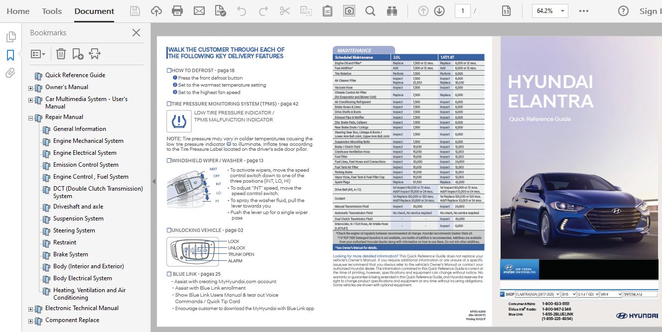 2018 Hyundai Elantra Repair Manual