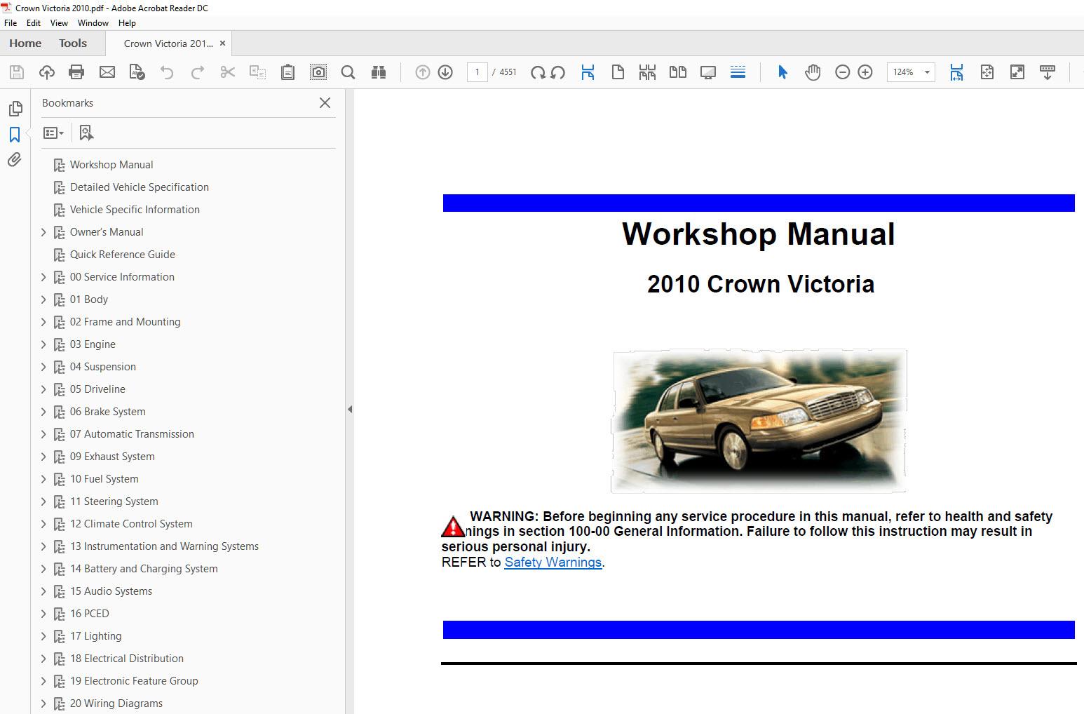 2008 Ford Crown Victoria Repair Manual