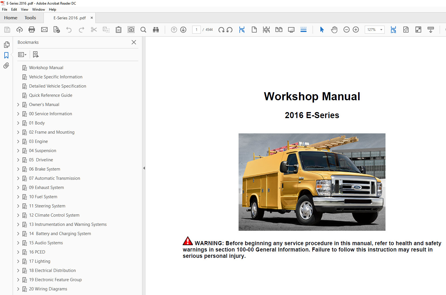 ford e series e350 e450 2015 2018 repair manual rh factory manuals com 2004 ford e450 service manual 2004 ford e450 service manual