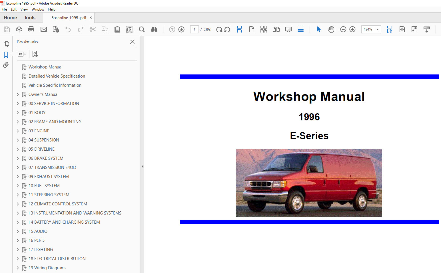 Ford Econoline 1995 1996 1997 repair manual