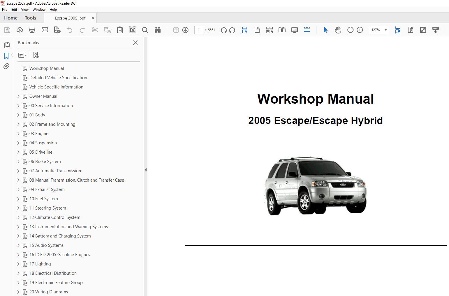 ford escape 2004 2006 factory repair manual