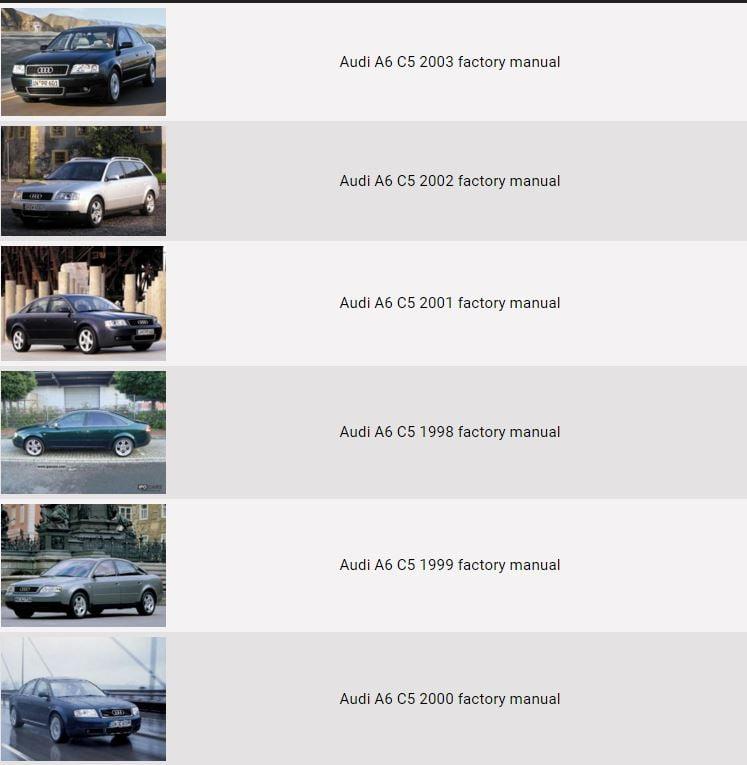 Audi A6 C5 Bedienungsanleitung Download